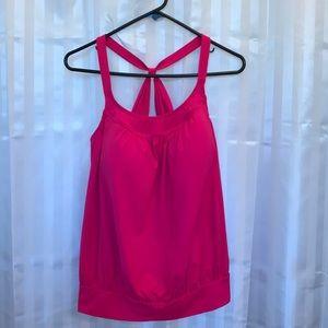 Lands End Woman's size 16W NWOY pink built in bra